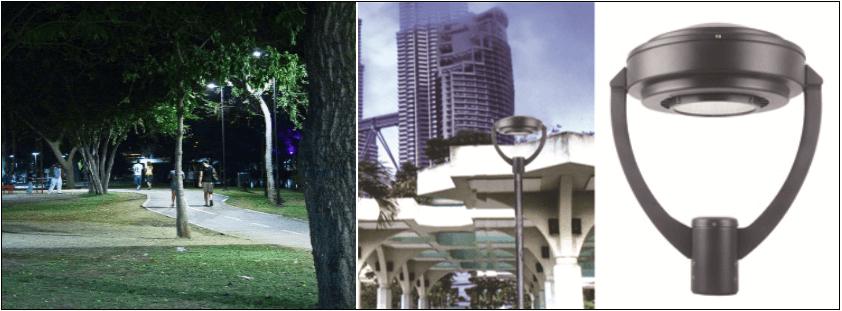Led l mpara de calle parques y exteriores serie a Iluminacion decorativa para exteriores