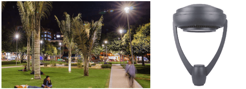 luminarias led para parques